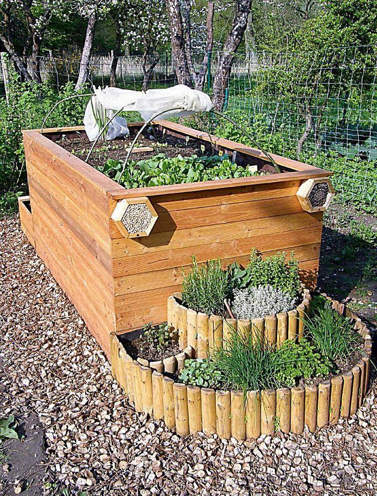 17 best ideas about hochbeet on pinterest   garten, schrebergarten, Garten und Bauen