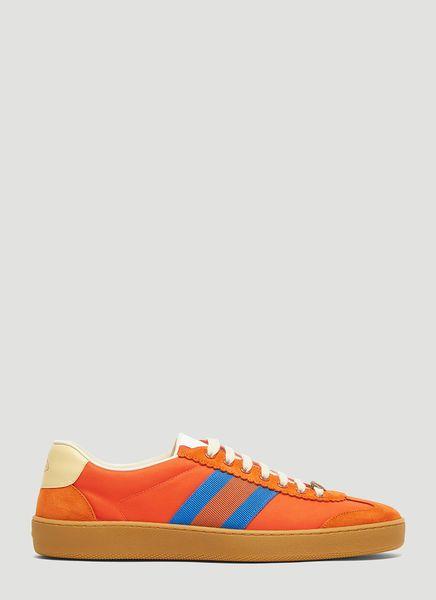 57d70e9c754 GUCCI G74 NYLON SNEAKER IN ORANGE.  gucci  shoes