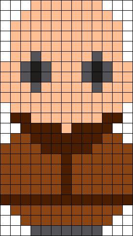 Fester Addams Perler Bead Pattern / Bead Sprite