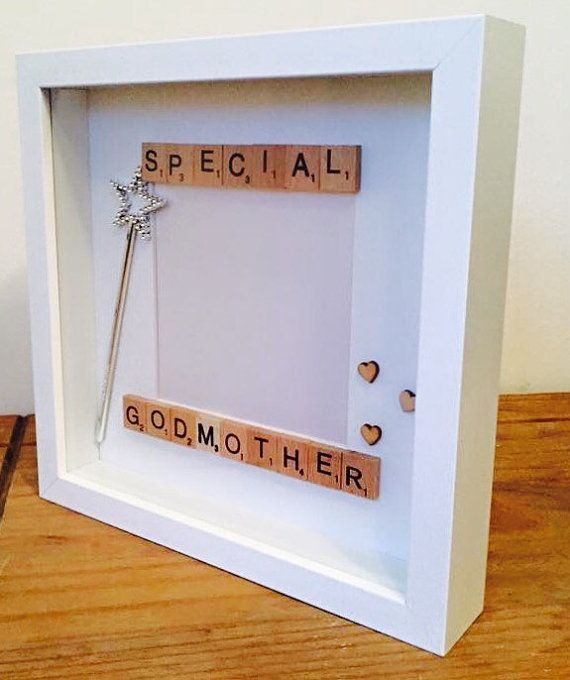 SPECIAL GODMOTHER scrabble frame beautiful by MagicWonderCreations