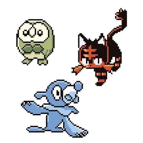 Pokemon starters Sun & Moon gameboy version #pokemon