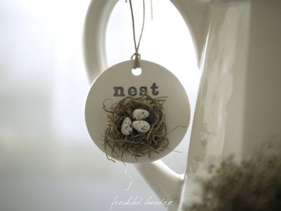 gorgeous clay tags by Freckled Laundry Etsy