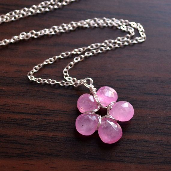 NEW Real Pink Sapphire Necklace Flower Pendant by livjewellery https://www.etsy.com/listing/216968075/new-real-pink-sapphire-necklace-flower?ref=shop_home_active_1&ga_search_query=new