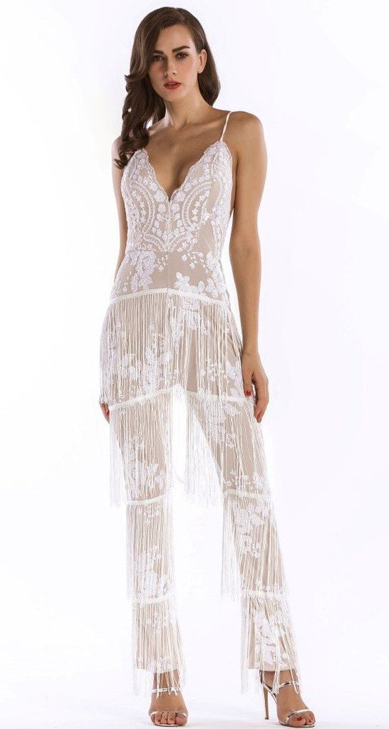 76d7cd23e073 White Vintage Gatsby Party Jumpsuits For Women