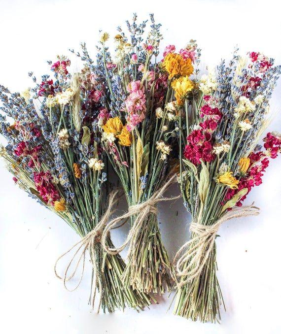 Lavender Dried Bridal Bouquet Dry Flowers Bouquet For Etsy Dried Flower Bouquet Dried Bouquet Dried Flowers