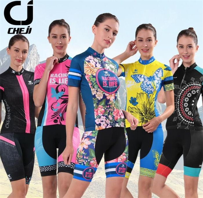 29.98$  Buy here - http://ai929.worlditems.win/all/product.php?id=32790932117 - CHE JI Cycling Clothing Women Riding Team Sportswear Bike Set Ropa Ciclismo Mountain Road Bike Bicycle Cycling Jersey Set