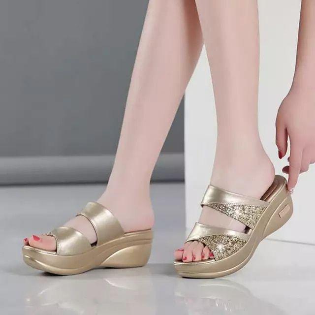 Tienda Online 2020 verano Bling zapatilla Mujer Zapatos