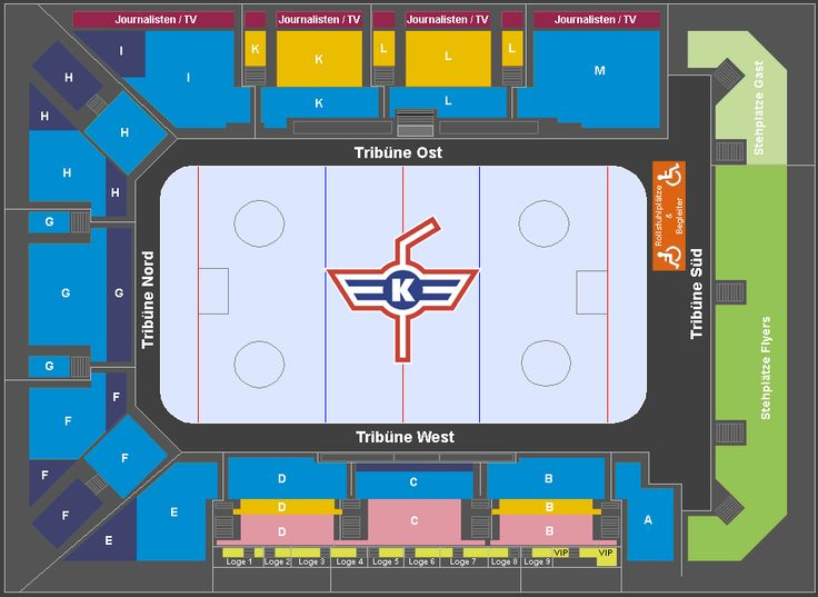 Kolping Arena Stadionplan Kloten Flyers | Tickets für alle Spiele unter: http://www.ticketcorner.ch/Tickets-kloten-flyers.html?affiliate=PTT&doc=artistPages%2Ftickets&fun=artist&action=tickets&kuid=447896 #Eishockey