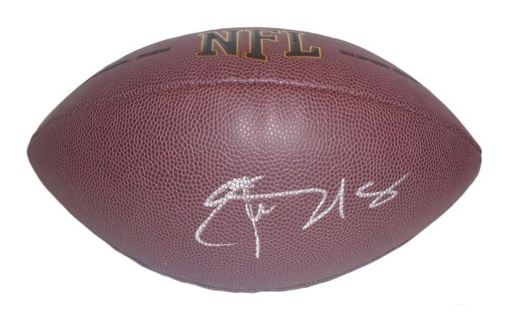 Elvis Dumervil Autographed NFL Wilson Composite Football, Proof Photo