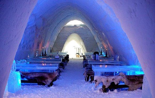 Ice Restaurant in Yllasjarvi, Finland :3