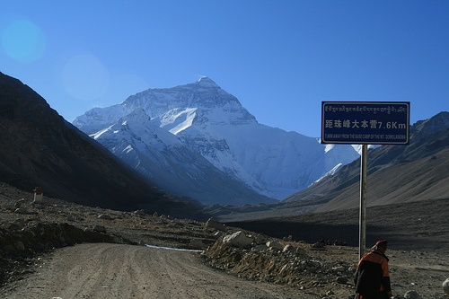 Mount Everest as seen from Rombuk by BenjiTh, via Flickr