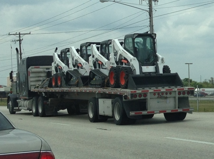 Saw these four Bobcat Skid Steer Loaders just outside the Mascus USA headquarters heading onto the next job. If you are interested in seeing what Bobcat Skid Steer Loaders are available, please click on the link below.