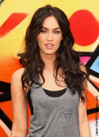 Love the slouchy style, hair, makeup - can't go wrong with inspiration from Megan Fox! #lovemebeauty