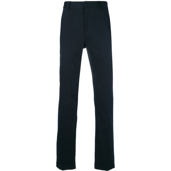 Fendi tailored trousers ($565) ❤ liked on Polyvore featuring men's fashion, men's clothing, men's pants, men's dress pants, blue, mens tailored pants, mens blue dress pants, mens blue pants and mens elastic waistband pants