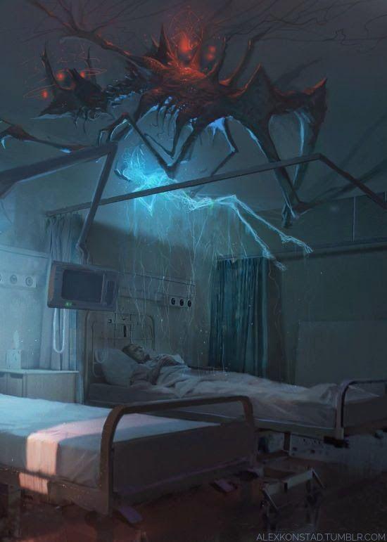 As sombrias ilustrações de fantasia e ficção científica de Alex Konstad