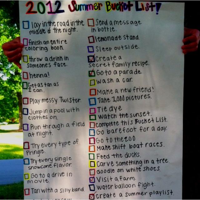 Such a good summer bucket list!