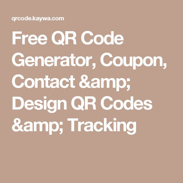 Free QR Code Generator, Coupon, Contact & Design QR Codes & Tracking