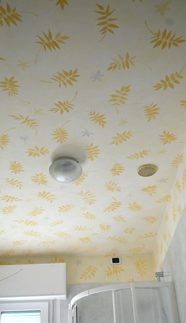 bathroom ceiling, painted with silicate paint by Rosso Sinopia, 2012