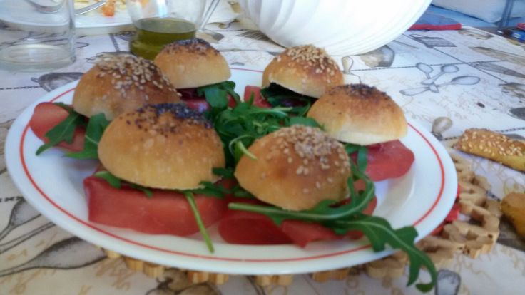 Mini muffin farcite con gorgonzola bresaola e la rucola at my house Italy 😜