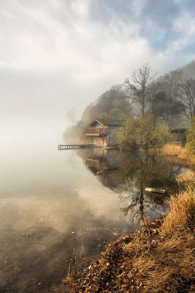 Another take on the iconic 'Duke Of Portland' boathouse on Ullswater... but this is my take! I waited quite a while to get this shot so when I rocked up at sunrise, bypassing the amazing cloud inversion on the way down to the lake and wondering whether I'd made a massive mistake, I arrived to find the mist and light was perfect on my intended subject ...And thus a happy ending. I hope you enjoy my take.. ~Kathy   Follow on Facebook  Twitter - Website - Instagram