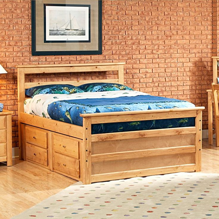 Have to have it. Chelsea Home Full Bed with Storage - Caramel - $859.99 @hayneedle