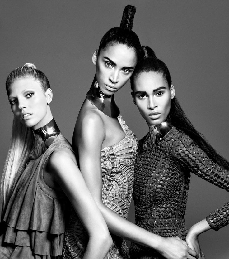 Devon-Windsor, Noemie-Lenoir &Cindy-Bruna for Balmain-Hair