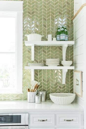 olive green back splash is perfect backsplashes pinterest rh pinterest com Kitchen Tile Backsplash Sea Green Kitchen Tile Backsplash Sea Green