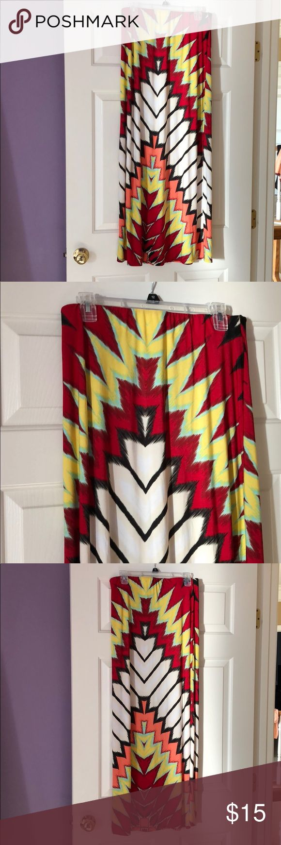 Tribal maxi skirt Tribal maxi skirt ECI Skirts Maxi