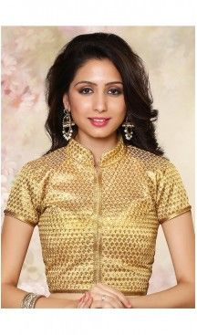 Beige Color Brocade Chinese Collar Designer Readymade Blouse   FH511777907 #readymade, #blouses, #wholesale, #plain, #sarees, #designer, #online, #heavy, #backless, #shopping, #unstitched, #patterns, #party, #women, #girls, #stitched, #designer, #brocade, #cotton, #Chanderi, #velvet #blouses, #heenastyle, @heenastyle , #sari