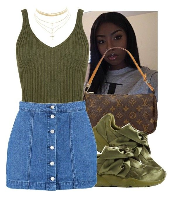 """"""""""" by eazybreezy305 ❤ liked on Polyvore featuring WearAll, Louis Vuitton, Puma, Boohoo, Charlotte Russe, Trendy, summerstyle, 2017 and summer2017"""
