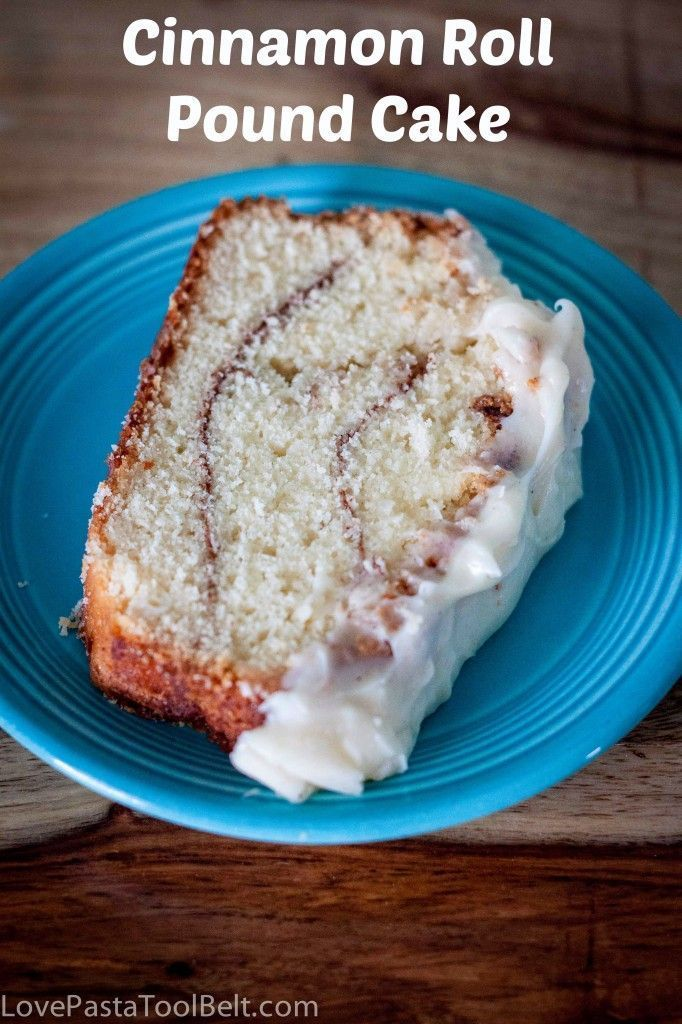 Cinnamon Roll Pound Cake- Love, Pasta and a Tool Belt | desserts | recipes | dessert recipes | cinnamon roll | cake | pound cake |