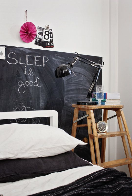 yes it isIndustrial Interiors, Chalkboards Painting, Headboards, Design Interiors, Interiors Design, Woman Shoes, Design Bedrooms, Bedside Tables, Chalkboards Wall