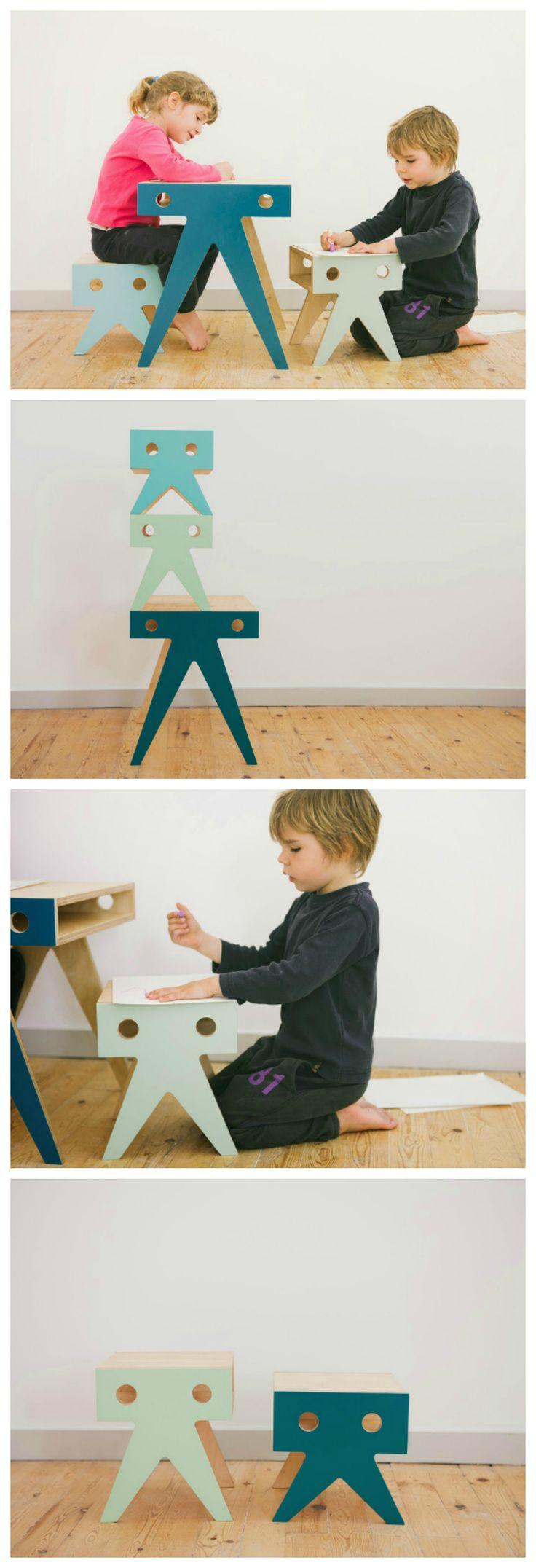 Desk + stools - Nimio