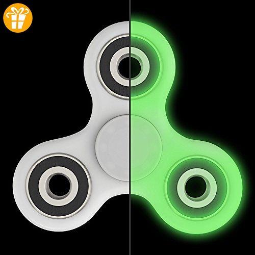 zappeln Spinner Glow in the Dark–skywell zappeln Spielzeug für hinzufügen, ADHD, Angst und Autismus Erwachsene Kinder–Stress Relief Spielzeug Hand tri-spinner–gemischt Keramik Kugellager–nicht 3D bedruckt, grün - Fidget spinner (*Partner-Link)