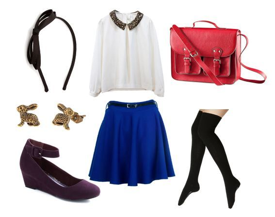 Sailor Moon inspired outfit: classic school outfit. (Halloween inspiration?)