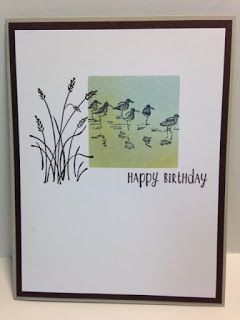I found this fun masculine card made by Sharon Graham at Split Coast Stampers. I haven't surfed around on their site in a while. I wasn...