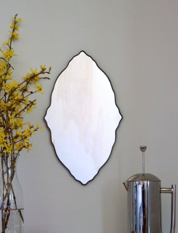 Etsy Oval Scalloped Mirror Handmade Wall Mirror Ornate by fluxglass