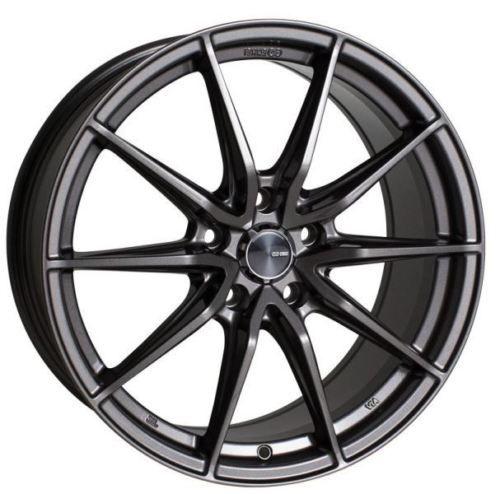 17x7.5 Enkei Rims DRACO 5x114.3 38 Antrhracite Wheels (Set of 4)