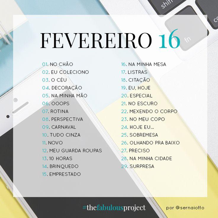 #thefabulousproject: fevereiro de 2016 - Sernaiotto