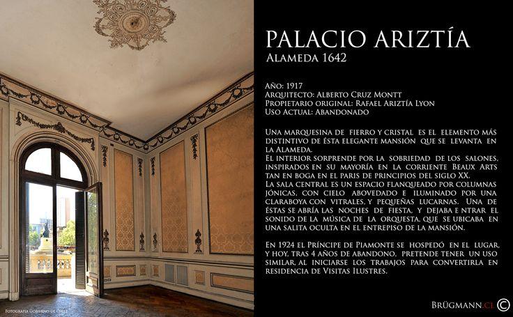 Palacio Ariztía  Alameda 1642, Santiago de Chile.