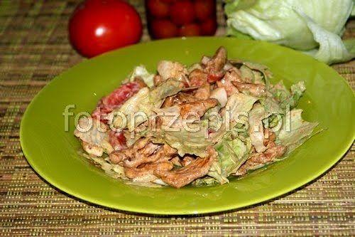 Sałatka Shoarma   zgodna z dietą Dukana zdrowe warzywa szybkie salatki przystawki latwe kurczak i drob  przepis foto