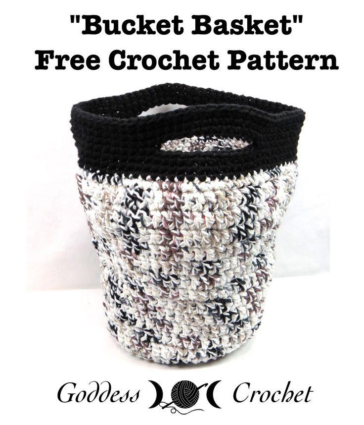 """The """"Bucket Basket"""" - Free Crochet Pattern"""