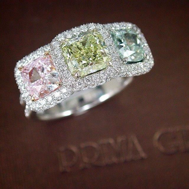 best 25 colored diamond rings ideas on pinterest pretty. Black Bedroom Furniture Sets. Home Design Ideas