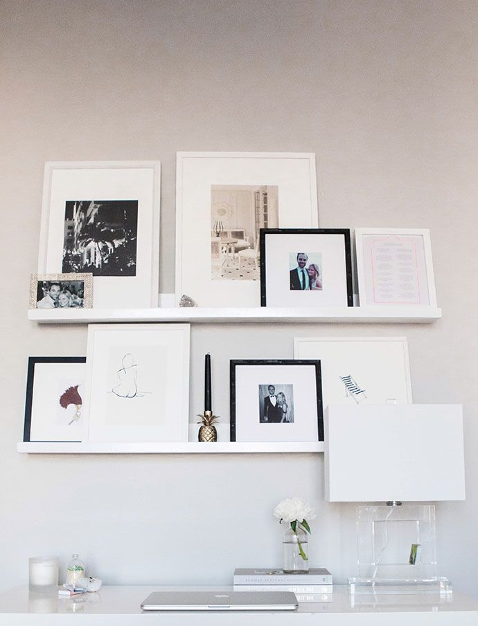 A nice way to decorate your office is with a Leaning gallery wall.