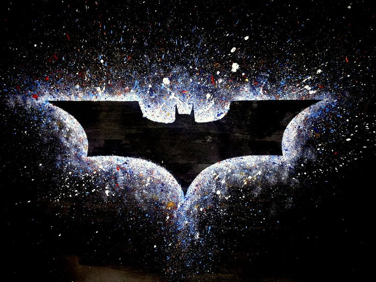 epic batman symbol is epic.... this would be cool doing it like the outer space/city spray paint paintings