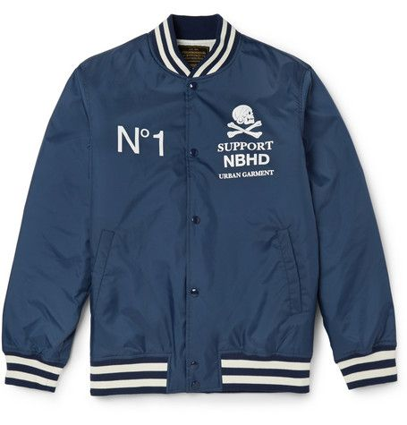 Neighborhood Printed Shell Varsity Jacket | MR PORTER