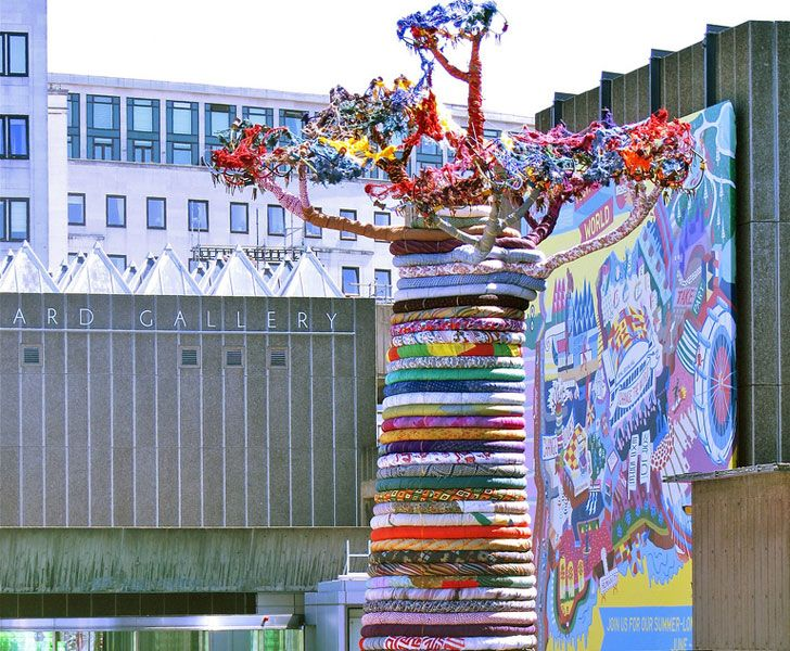 Colossal Baobab Tree Made From Recycled Fabric Takes Root in Central London