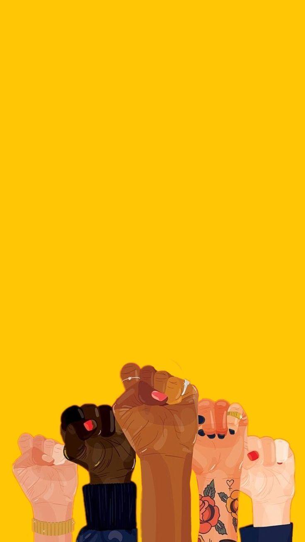 Girl Girlpower Feminism Female Yellow Tumblr Wallpaper Feminist Art Tumblr Yellow Art Wallpaper
