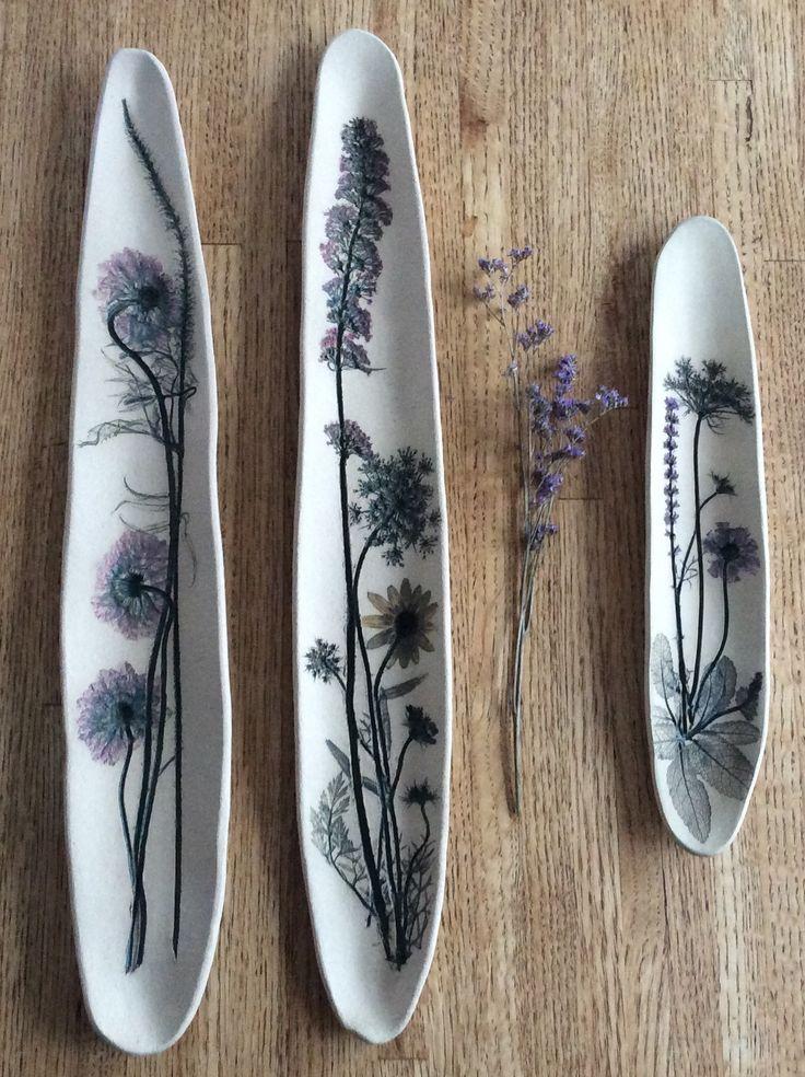 K Boyland Designs, botanical impressions in clay