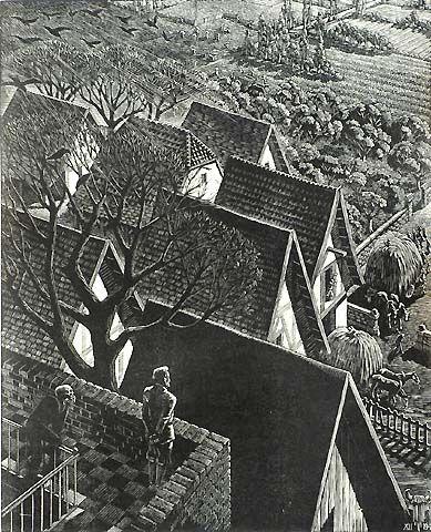 The Rich Fool - Victor Delhez - wood engraving